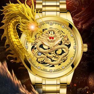 Đồng hồ nam BOSCK R01 mặt rồng quyền quý, kim dạ quang, lịch lãm tuyệt đẹp, giả cơ sang trọng (Tặng tháo mắc) thumbnail