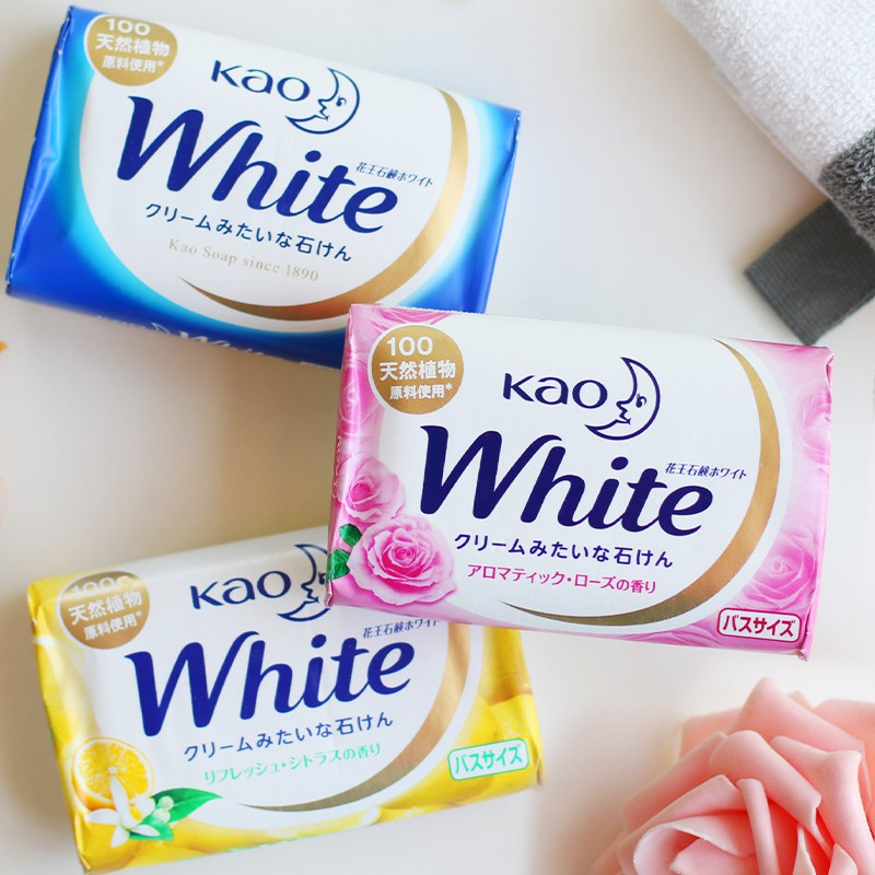 Bánh xà bông tắm Kao white 85g