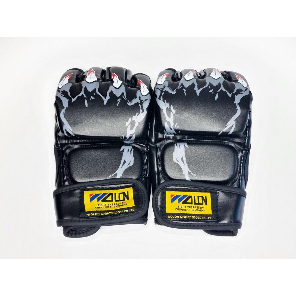 Găng tay Boxing Hở ngón Wolon MMA