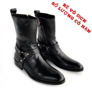 Giày Chelsea da bò thật TEFOSS HT657 cao cổ nam Harness Boot cao cấp thời trang size 38-44 thumbnail