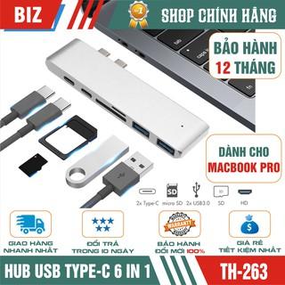HUB USB TYPE-C 6 IN 1 dùng cho Macbook Pro - Bảo hành 12 tháng!!!