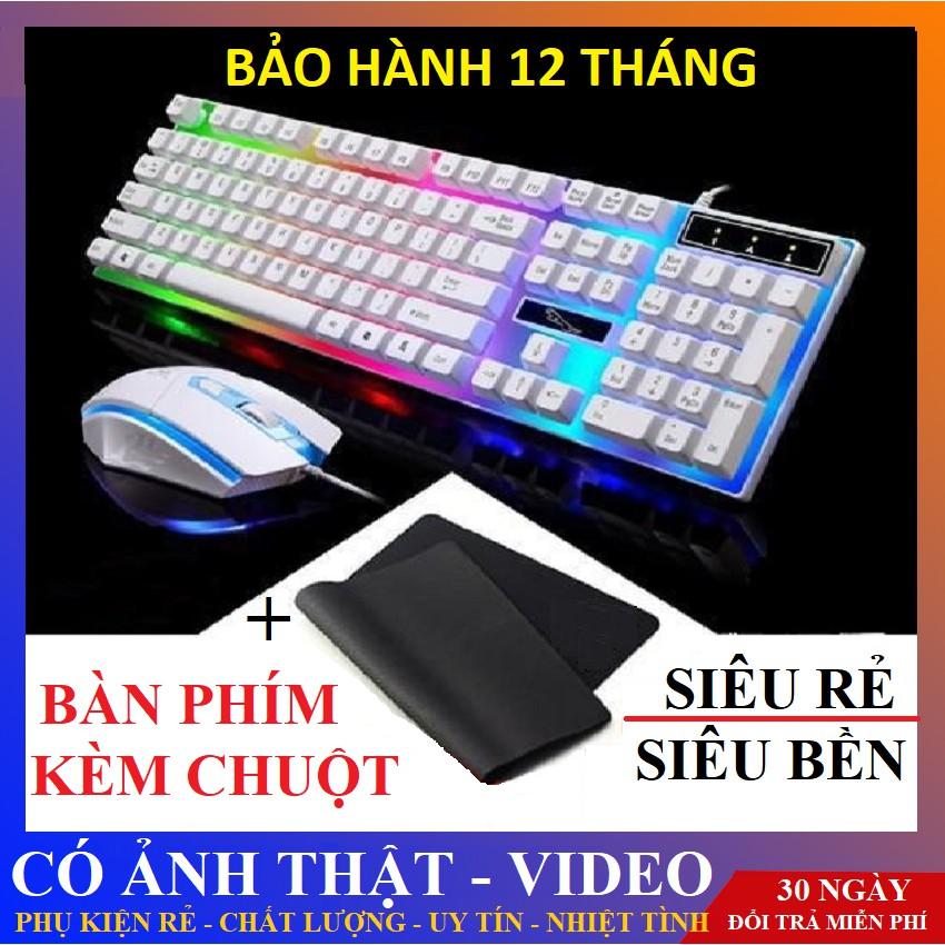 [ TẶNG 1 LÓT CHUỘT ] Bộ bàn phím kèm chuột máy tính - bàn phím Giả Cơ Con Báo G21 PRO 2021 Có LED 7 Màu Ấn Tượng