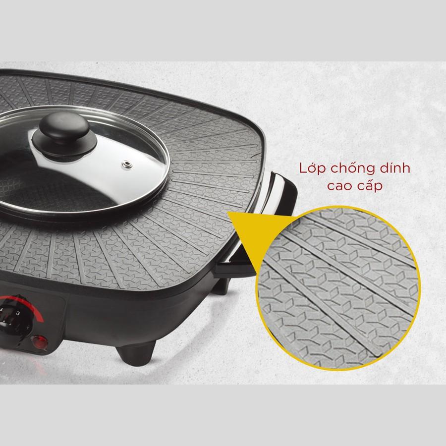 Bếp lẩu điện 2 ngăn công suất 1500W chống dính cao cấp