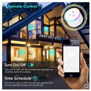 [HCM] – Đèn ngủ kiêm ổ cắm thông minh hẹn giờ điều khiển qua Wifi tích hợp Amazon Alexa   Google Home