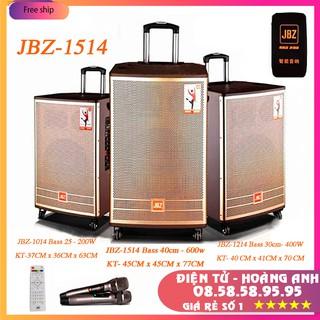 LOA KÉO  JBZ-1514  Bass nén 4 tấc tặng 2 micro UHF tần số cao loa 3 đường tiếng cho ra âm thanh rất chi tiết