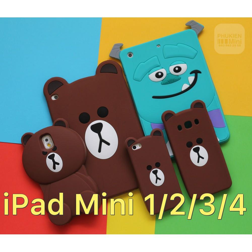 Ốp dẻo hoạt hình cho iPad Mini 1/2/3/4