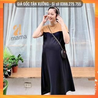 [BÁN SỈ] Đầm váy bầu dự tiệc 2MAMA thiết kế dáng suông V48 thumbnail