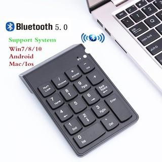 Bàn phím kỹ thuật số Bluetooth 2.4G không dây cho kế toán văn phòng Máy tính xách tay PC WIN10 Bàn phím số nhỏ di động mới Bàn phím số USB 18Keys thumbnail