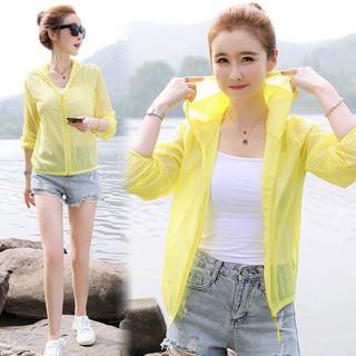 Áo Khoác Chống Nắng Vải Lụa Siêu Nhẹ Thoáng Mát Cho Nữ Kiểu Hàn Quốc thumbnail