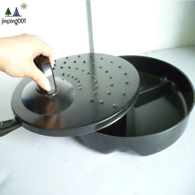 Multipurpose Non-stick 3-hole Frying Pan for Eggs Ham Cooking Pot