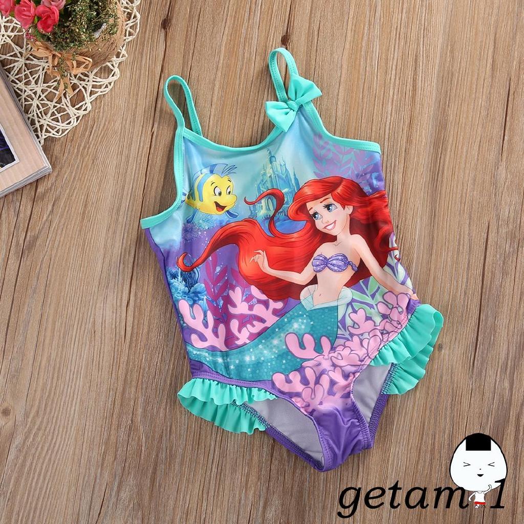Mặc gì đẹp: Tắm biển vui với Đồ tắm một mảnh họa tiết nàng tiên cá Ariel xinh xắn dành cho bé gái