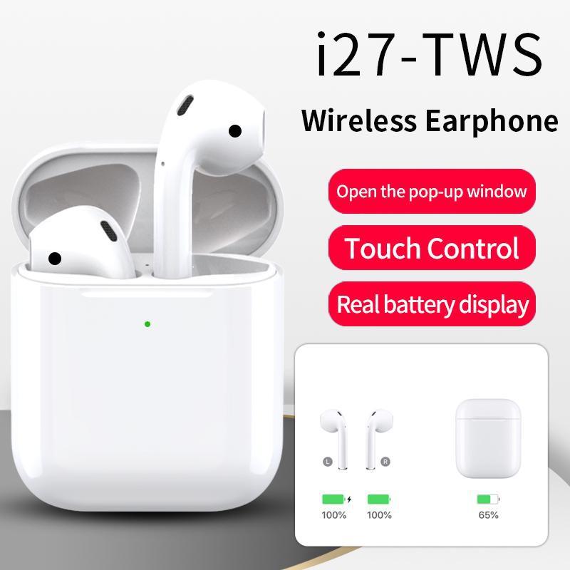 Tai nghe không dây i27 TWS hỗ trợ sạc không dây