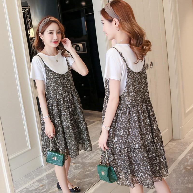 K260 Sét váy bầu gồm áo phông và váy hoa hai dây nữ tính - 2438195 , 1043207946 , 322_1043207946 , 310000 , K260-Set-vay-bau-gom-ao-phong-va-vay-hoa-hai-day-nu-tinh-322_1043207946 , shopee.vn , K260 Sét váy bầu gồm áo phông và váy hoa hai dây nữ tính