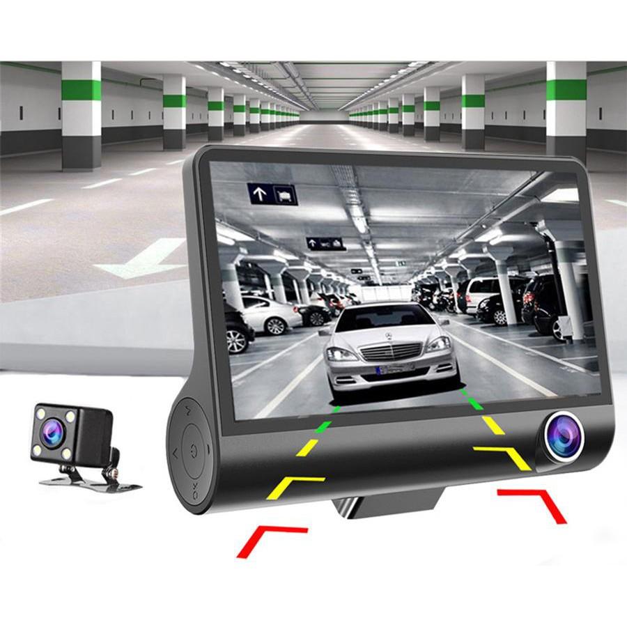[Bảo hành 12T] DVR 4 Camera Quan Sát Ban Đêm 170 ° Góc Rộng HD Cảm Biến Ghi Hình Vòng Lặp Xe Ô Tô đầu ghi hình Camera (Đ