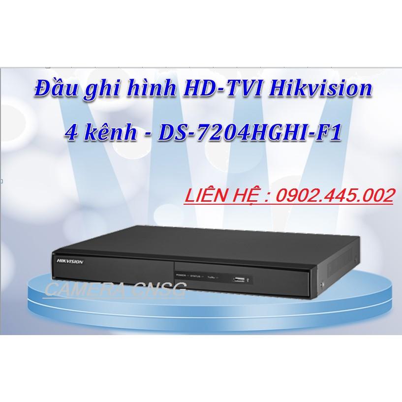 Đầu Ghi Hình Camera 4 kênh Analog Chuẩn H264+ hỗ trợ 1 camera Ip DS-7116HGHI -F1/N ( Thân Sắt)
