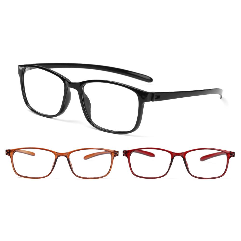 LUCKY🔆 Retro Presbyopic Glasses Flexible Clear Lens Reader Eyewear TR90 Ultralight Women Men Fashion Reading Glasses/Multicolor