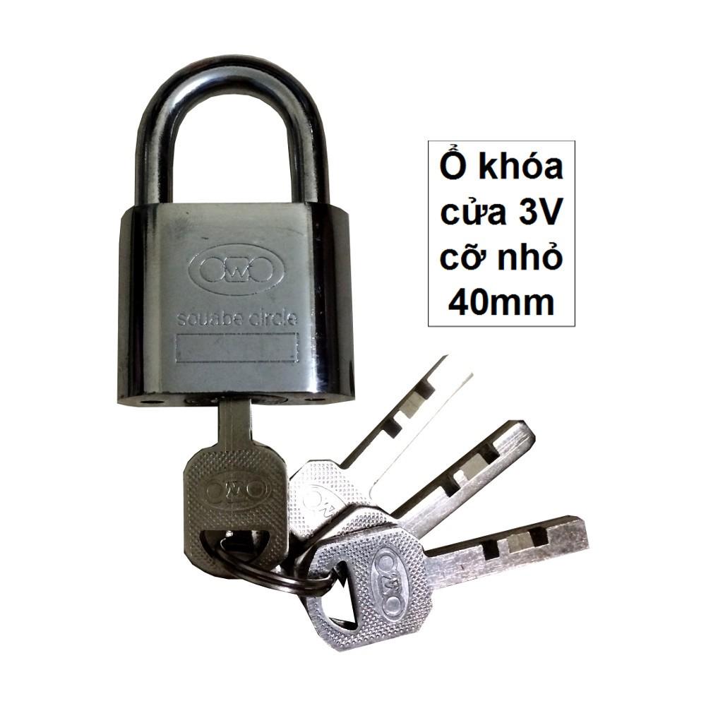 Ổ khóa cửa cỡ NHỎ 40 MM ( 3V)