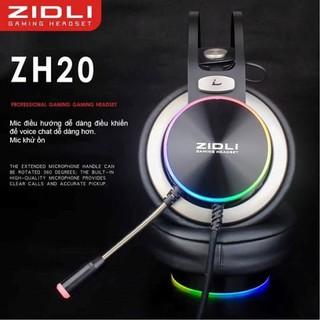 Tai nghe gaming Zidli ZH20 âm thanh vòm 7.1 USB LED RGB