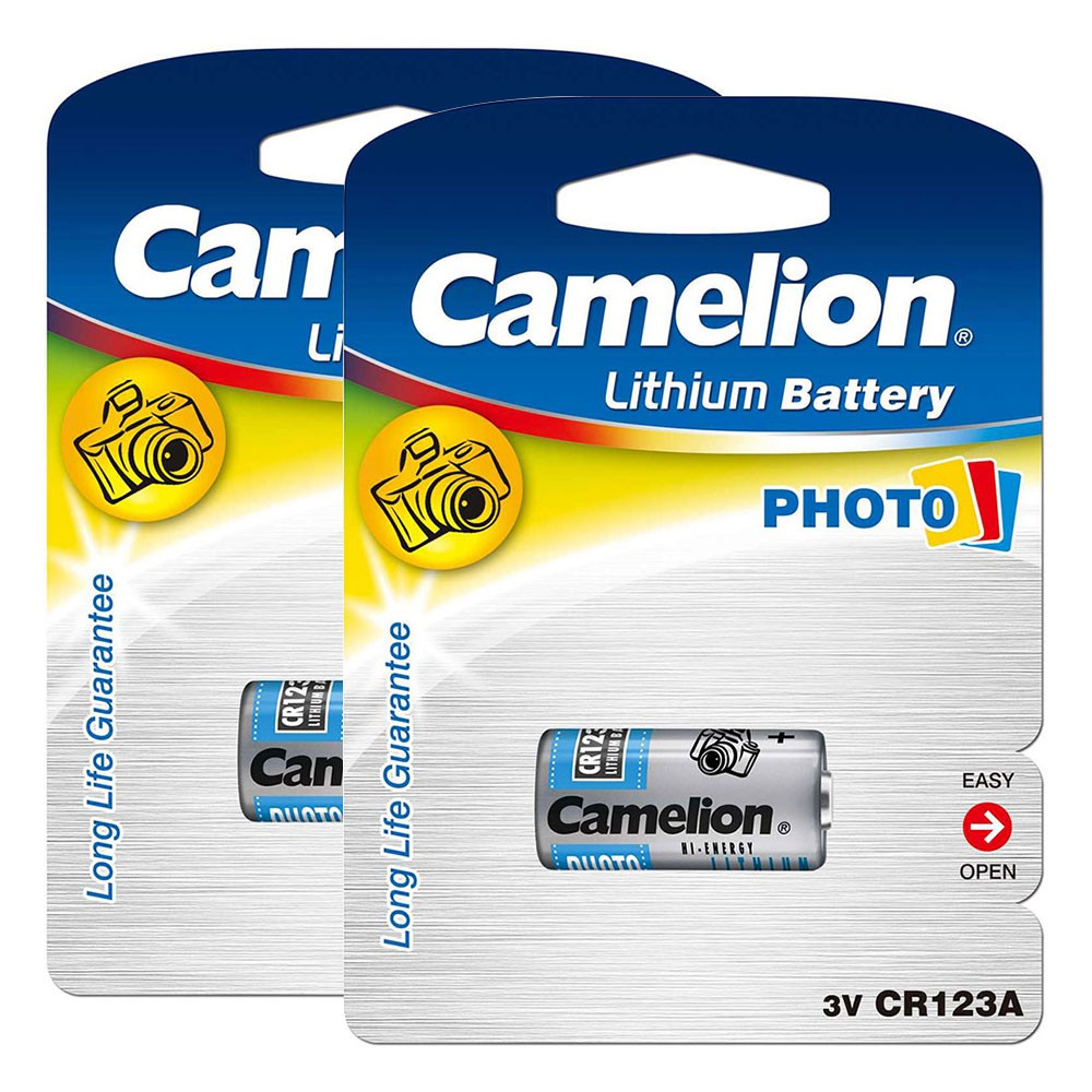 Bộ 2 Pin Camelion loại 3V - CR123A (Bạc)