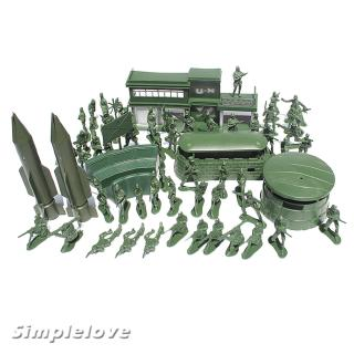56pcs Plastic Military Playset 5cm Army Figures Model Toys For Kids Adults