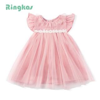 Đầm công chúa phối ren xinh xắn dành cho bé gái 1-6 tuổi