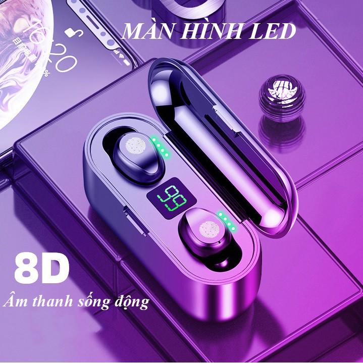 Tai nghe Bluetooth TWS F9 bản Quốc tế True Wireless không dây nút cảm ứng kháng nước thể theo stereo