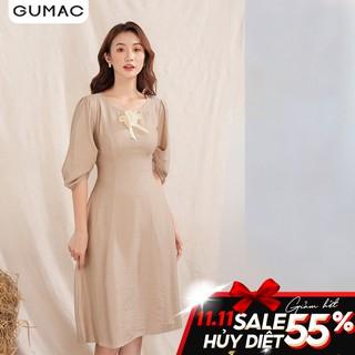 """Đầm tay nhún phụ kiện DA1019 GUMAC giá chỉ còn <strong class=""""price"""">23.400.000.000đ</strong>"""