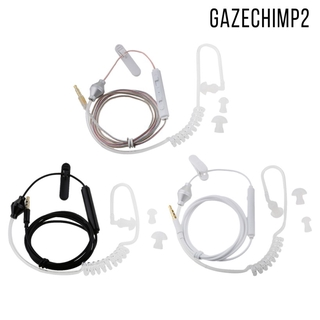 3 Pack 3.5mm Mic Earphone Air Tube Wired Stereo Headset with Replacement Eartips