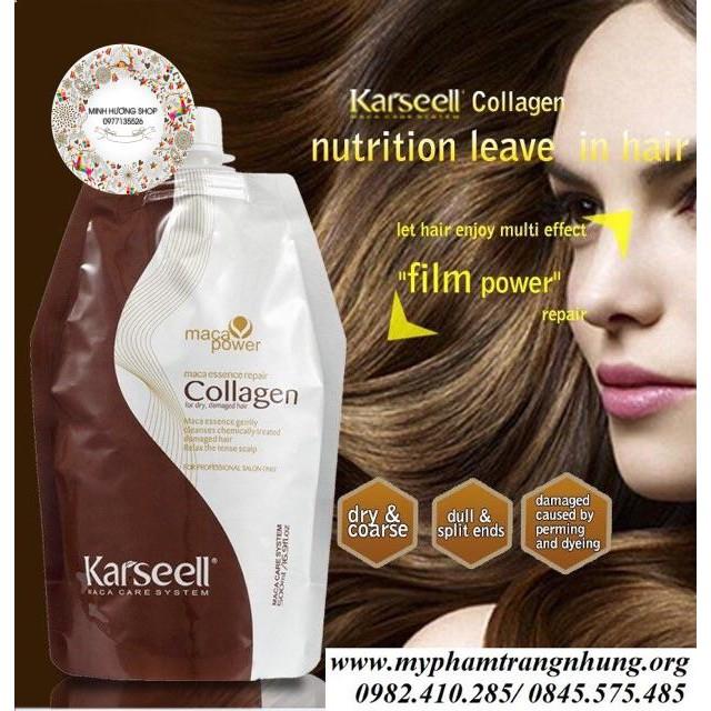 Dầu hấp tóc collagen Karseell Macca dưỡng tóc chắc khoẻ mềm mượt