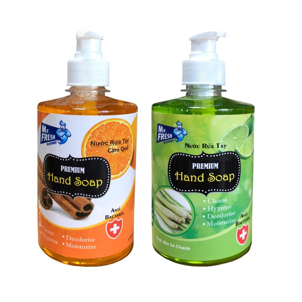 Combo 2 Nước rửa tay khử mùi Mr.Fresh 500ml Hương Cam Quế