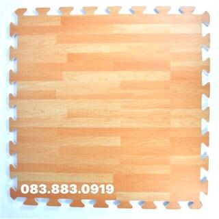 Thảm xốp hình vân gỗ màu sáng đẹp 60cm x 60cm