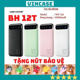 Sạc dự phòng chính hãng WK - WP 161 dung lượng 10000mah cho Samsung, Iphone sạc cùng lúc 2 thiết bị bảo hành 12 tháng. thumbnail