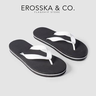 Dép đi biển xỏ ngón in hoạ tiết dễ thương thời trang Erosska màu đen - DK015