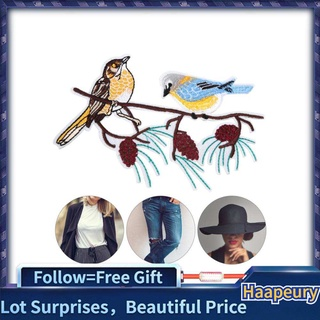 Haapeury 2Pcs Iron on Patches Embroidery Birds Shape Patch Sewing Cloth for T-Shirt Clothes Bag Jacket Backpack and Shoe