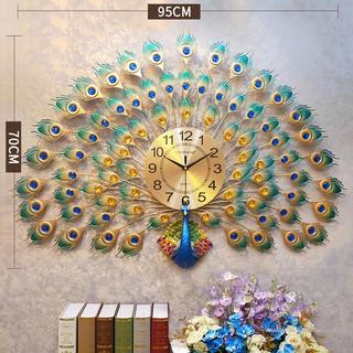 đồng hồ treo tường hình chim công tinh xảo