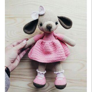 Cún mặc váy hồng – handmade