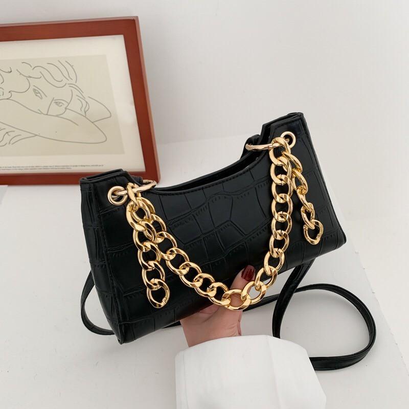 Túi xách nữ 👑FREESHIP 50K👑 Túi xách nữ dây xích bản to kiểu dáng mới lạ 2020 7163