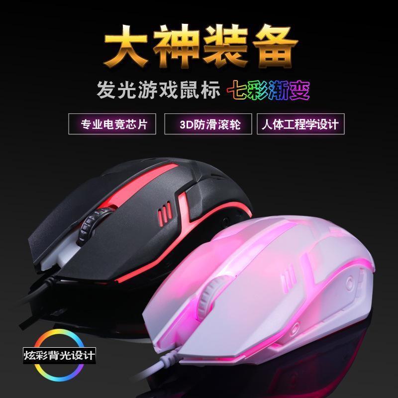 Chuột Gaming S1 Có Đèn LED Nền Nhiều Màu