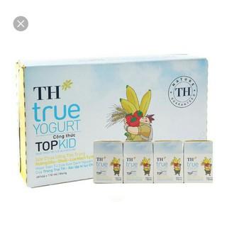 sữa chua uống tiệt trùng Topkid 110ml hương chuối