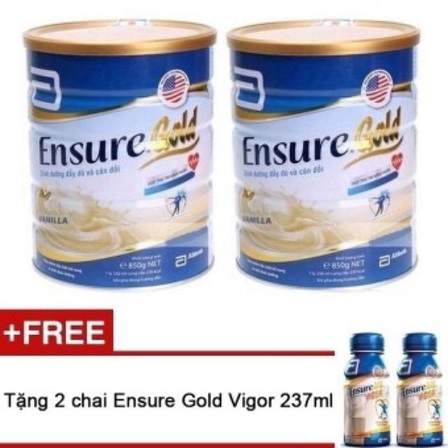 Combo 2 hộp sữa ensure gold 850g( tặng kèm 2 sữa nước ensure) - 3173618 , 829978130 , 322_829978130 , 1370000 , Combo-2-hop-sua-ensure-gold-850g-tang-kem-2-sua-nuoc-ensure-322_829978130 , shopee.vn , Combo 2 hộp sữa ensure gold 850g( tặng kèm 2 sữa nước ensure)