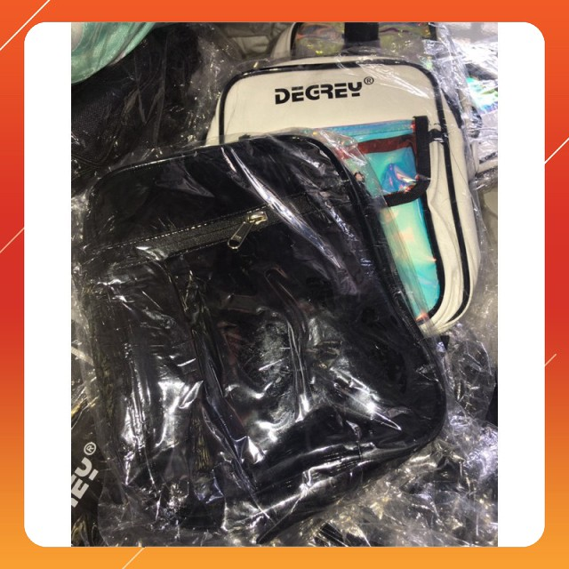 Tag Degrey Túi đeo chéo Degrey trắng - đen ( Ảnh thật )