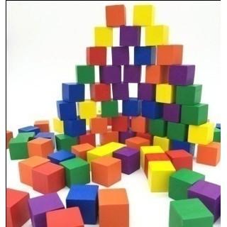 100 Khối lập phương nhiều màu sắc (cube)