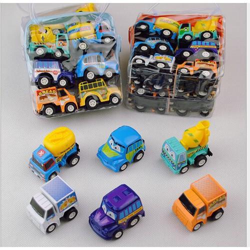 Bộ 6 chiếc ô tô xe chạy đà - Đồ chơi mô hình ô tô màu sắc bắt mắt đáng yêu cho bé