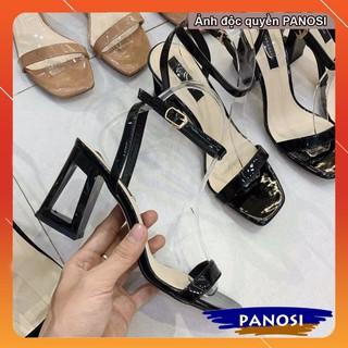 Giày cao gót sandal sang chảnh gót vuông rỗng 7cm thumbnail