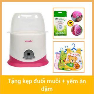 Máy hâm sữa tiệt trùng 2 bình sữa rozabi