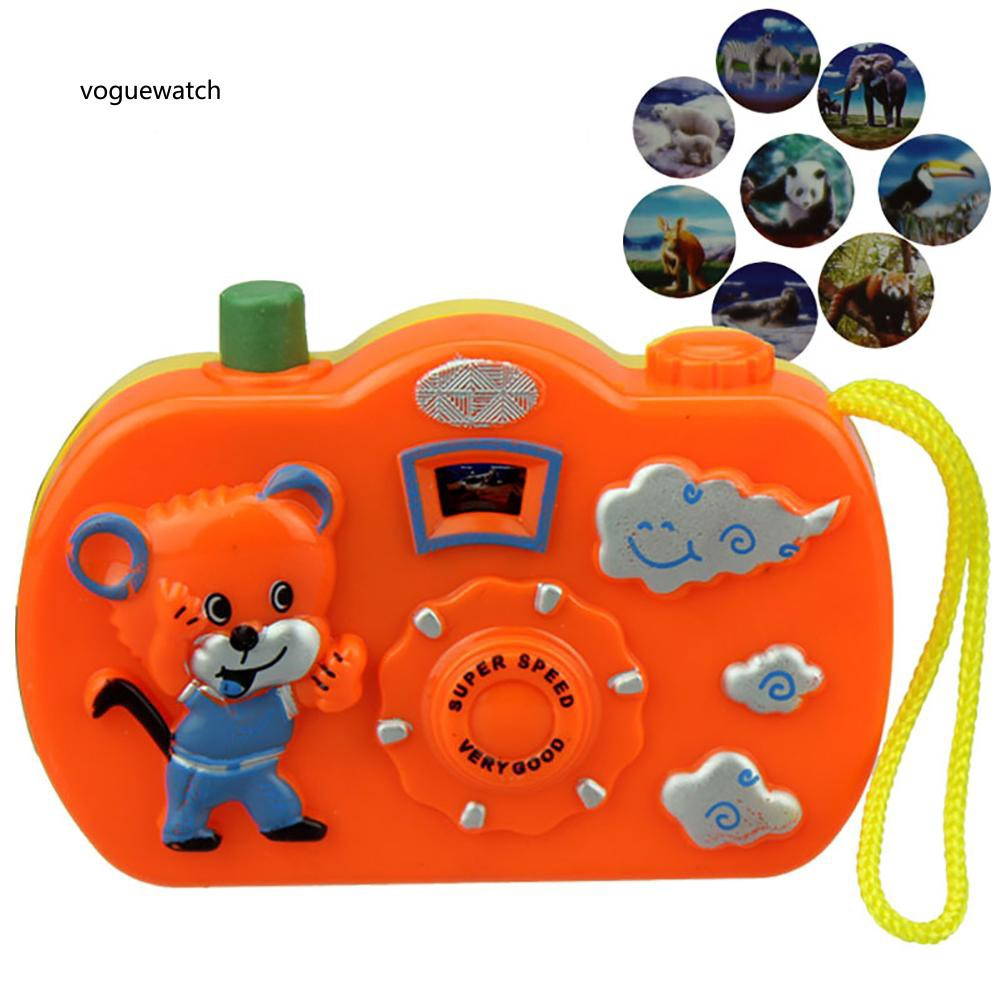 VGWT_Fun Cartoon Camera Toy 8 Patterns Change Baby Kids Cognition Educational Toys