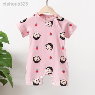 Bộ Đồ Ngủ Tay Ngắn Vải Cotton Thời Trang Mùa Hè Cho Bé Sơ Sinh