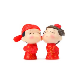 Mini Doll Lovers Mini Couples Doll Lightweight 2pcs Red Room