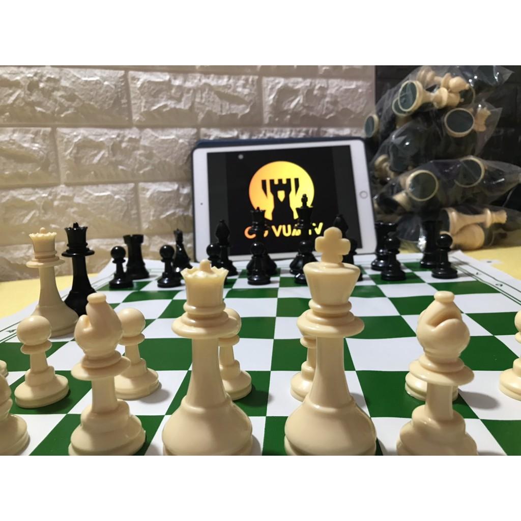 Cờ Vua Tiêu Chuẩn – Cờ Vua Cao Cấp – Cờ Vua Dùng Để Thi Đấu – Bàn xanh 45x45cm
