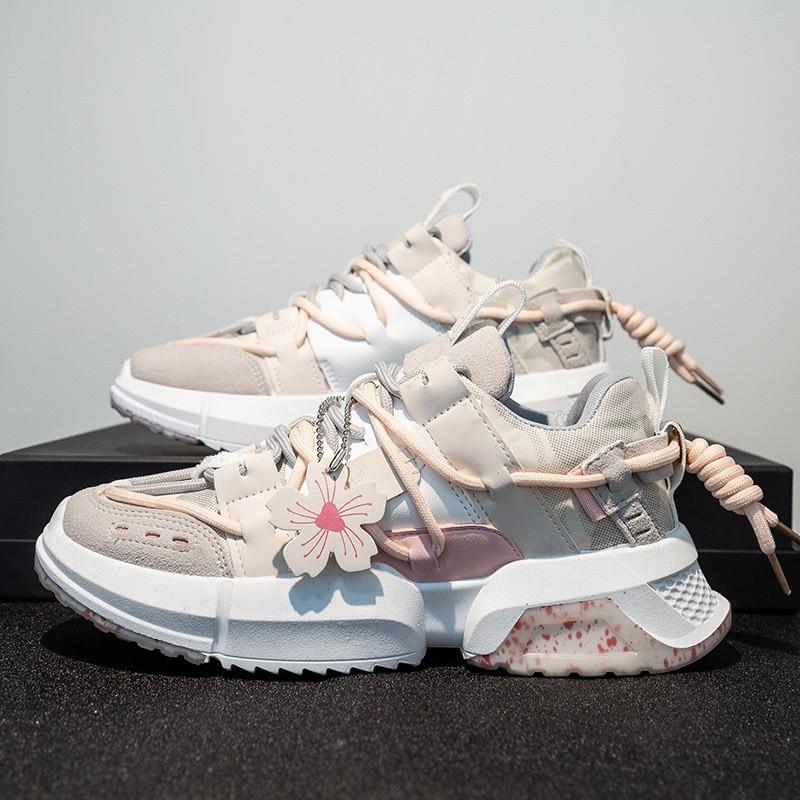 (Video)Giày nữ,giày thể thao sneaker hoa anh đào hót trend